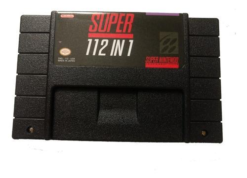 Cartucho Super Nintendo 102 Ou 112 Jogos Em 1 Multi Games