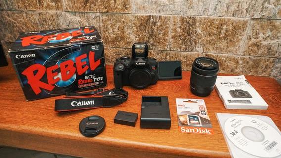 Canon T6i +18-55mm + Na Caixa + Cartão 16gb A Vista 2299,00