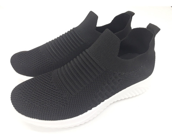 Zapatillas Mujer Elastizadas Sneaker Wake Negro Art Wk 2