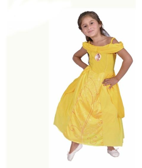 Disfraz De Bella Con Luz Talle 2 Original Disney
