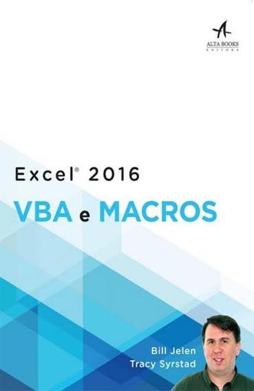 Excel 2016 Vba E Macros