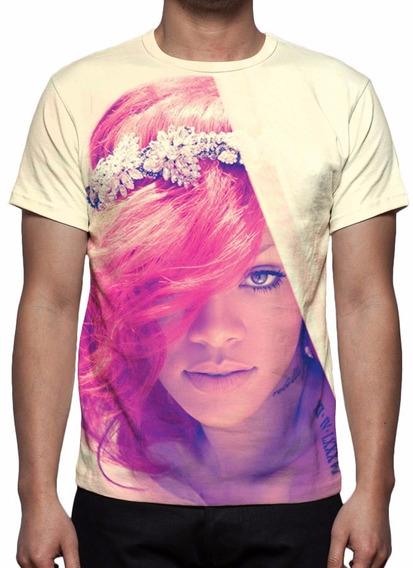 Camisa, Camiseta Rihanna Mod 05 - Estampa Total