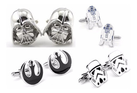 Mancuernillas Star Wars Coleccion 4 Pares + Envió Gratis