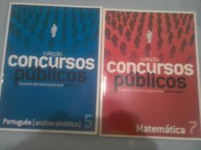 Coleçao Com Dois Livros Sobre Concurso Publico Português E M