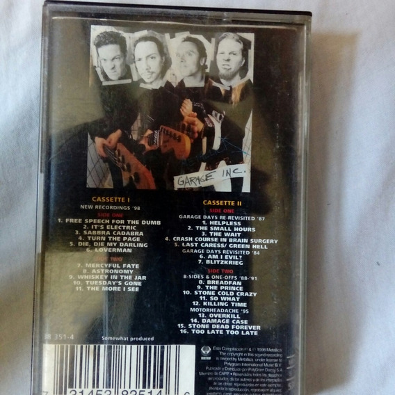 Cassette Metallica - Garage Inc. Ii