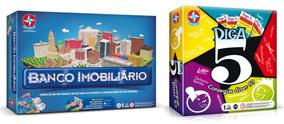 Brinquedos Meninas Jogo Diga 5 + Banco Imobiliário Estrela