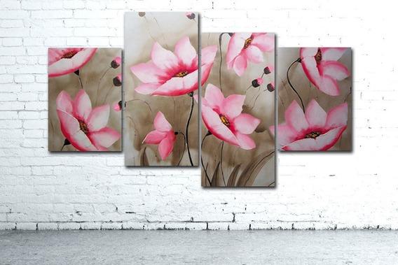 Oferta! Cuadro Flores Moderno 146x90cm Decoración Living Diseño Personalizado