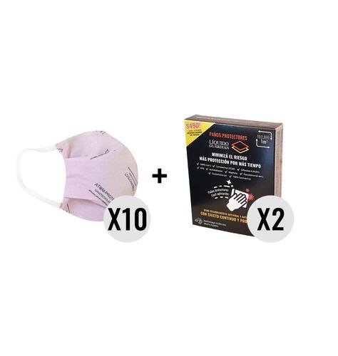 Atom-protect Conicet X 10 + Toallas Liquido Guardian X 2