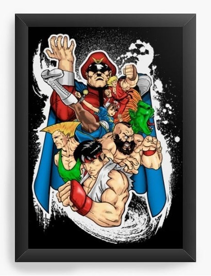 Quadro Decorativo Geekz Street Fighter