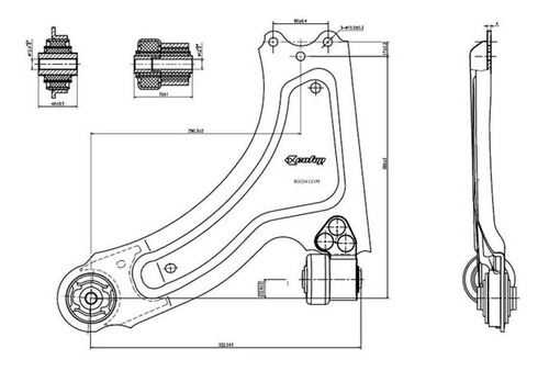 Imagen 1 de 5 de Parrilla Suspension Chevrolet Corsa 2 2002 Al 2012 C/ Buje