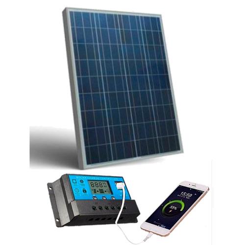 Kit Controlador Painel Placa Solar Fotovoltaico 60w