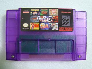 Cartucho Morado Juegos Super Nintendo Snes Super 110 In 1