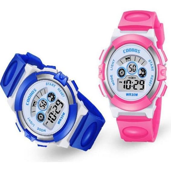 Relógio Infantil Feminino Pulso Digital 2 Unidade Barato