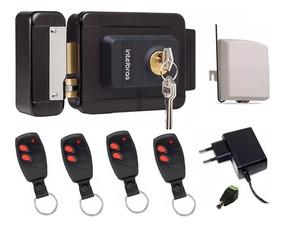 Kit Fechadura Elétrica Intelbras S/ Fio Acionador Controle