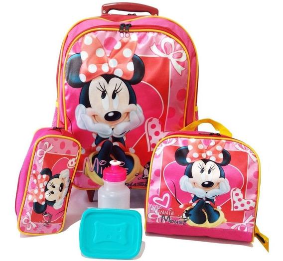 Kit Mochila Infantil Minnie Mouse Tam G