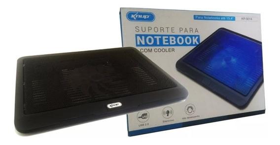 Suporte Para Notebook Com Cooler Base Alumínio Inclinação