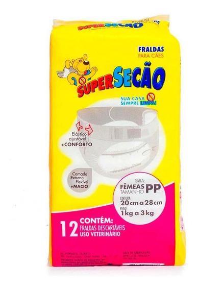 Fralda Descartável Super Secão Para Fêmea Petix 12 Und Pp
