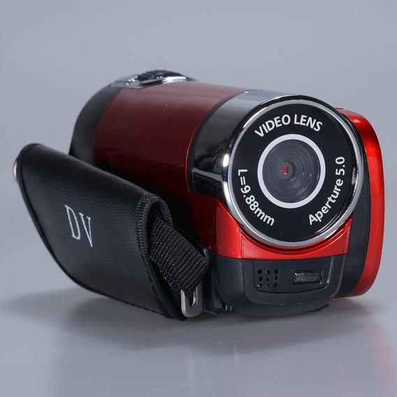 Filmadora De Vídeo Digital Alto Definição 1080p Vermelho Eu