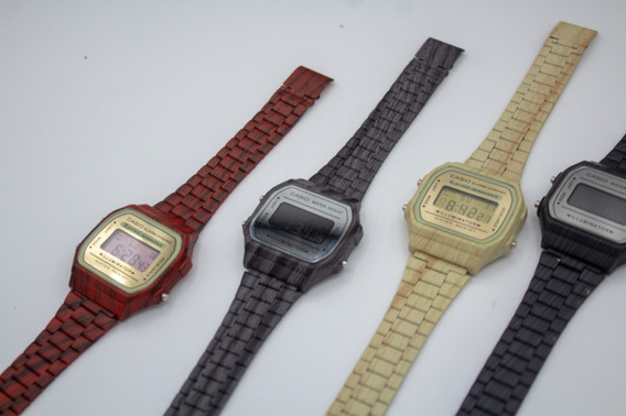 Relógio Casio Lançamento! Efeito De Madeira Frete Grátis 12x