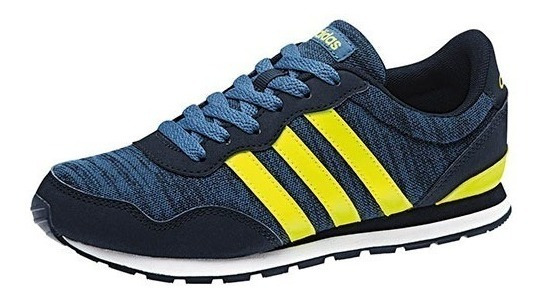 Tenis adidas V Jog Niño Azul/amarillo Original - Bc0080