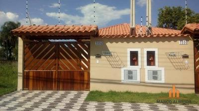 Casa Com 2 Dormitórios À Venda, 62 M² Por R$ 210.000 - Balneário Gaivota - Itanhaém/sp - Ca0205