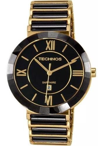 Relógio Technos Cerâmica Safira Grande 2015bv/4p