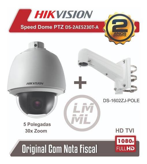 Speed Dome Hikvision Ptz Ds-2ae5230t-a 30x Hd 1080p C/suport