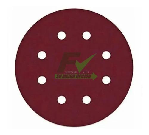 Disco Lija 8 Huecos Lijadora Orbital Velcro # 150 X 20 Und