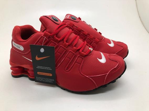 Kit 3 Pares Nike Shox Nz 4 Molas Final De Ano Natal Promoção