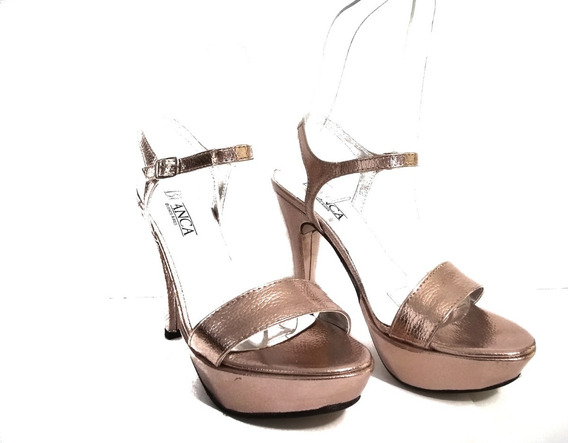 Zapato Mujer Sandalia Con Taco Aguja De 12cm Nueva Temporada