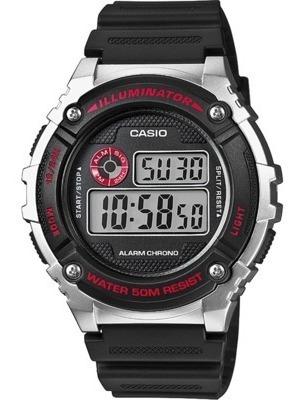 Relógio Masculino Casio Digital W-216h-1cvcf- Prata/preto