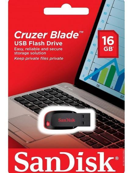 Pen Drive 16gb Sandisk Cruzer Blade Sdcz50-016g-b35 Usb 2.0