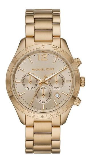 Relógio Michael Kors Feminino Mk6795/1dn Cronógrafo Dourado