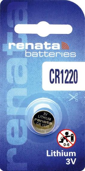 Bateria Pilha De Lítio Renata Cr1220 - Caixa Com 10 Baterias