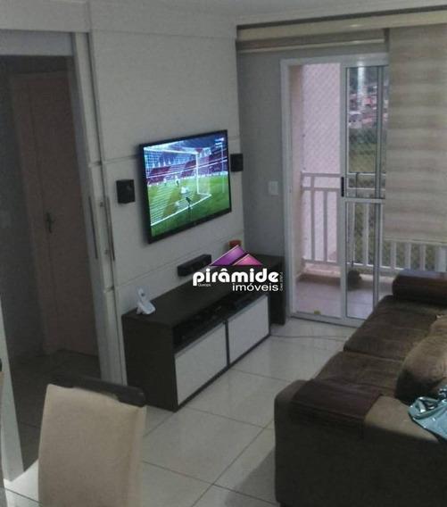 Apartamento Com 2 Dormitórios À Venda, 56 M² Por R$ 244.000,00 - Parque Residencial Flamboyant - São José Dos Campos/sp - Ap11342