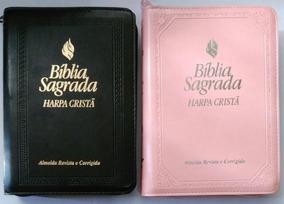 Bíblia Com Harpa Cristã Média Fonte De Bençãos Índice Zíper