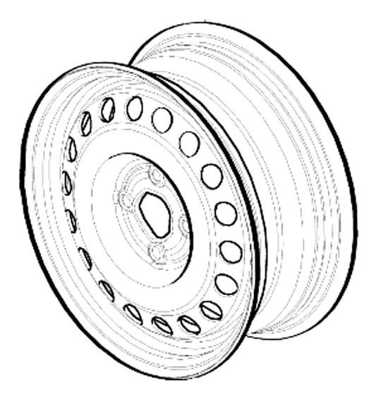Roda Ferro Aro 15 4x100 Montana 2011 A 2017 52084928