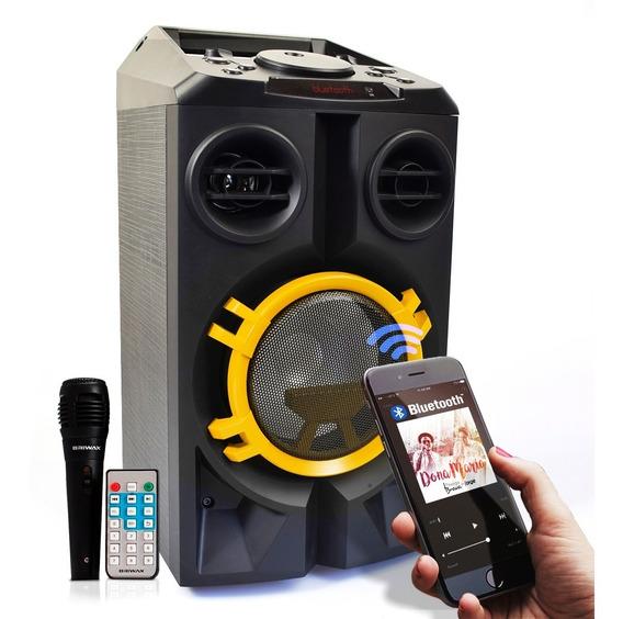Caixa Som Bluetooth Amplificada 40w Rms Usb Radio Controle