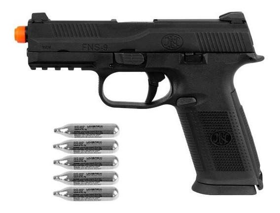 Pistola Airsoft Co2 Fn Herstal Fns-9 Full Metal + Co2
