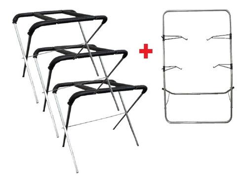 3 Cavaletes De Preparação + 1 Suporte De Pintura / Funilaria