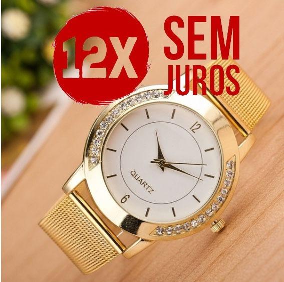 Relógio Feminino Fashion 12x Sem Juros Promoçâo