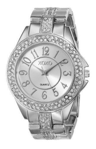 Xoxo Mujer Xo5463rhinestone-accented Silver-tone Pulsera R
