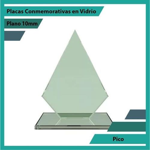 Trofeo En Vidrio Referencia Pico Pulido Plano 10mm