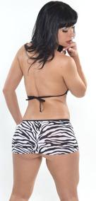 Vestido Curtinho Malha Importada Zebra 6044- Ropahrara