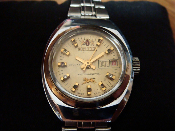 Antiguo Reloj Britix Para Dama Colección 70s