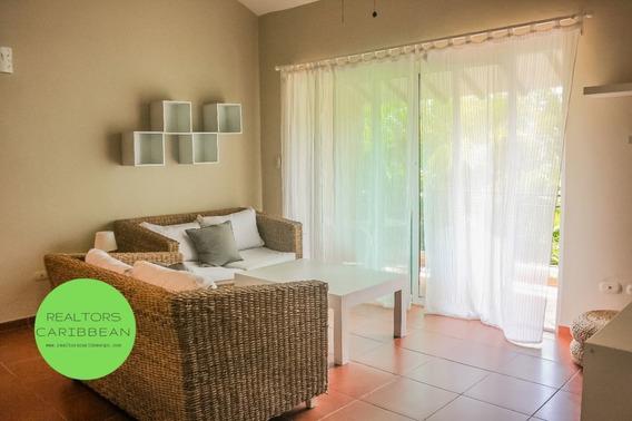 Cocotal Bávaro-punta Cana Amueblado 2 Dormitorios Primer Piso Vista Golf