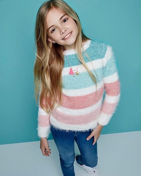 Sweater Abrigo Niña Cheeky Lana Rainbow Invierno 2020