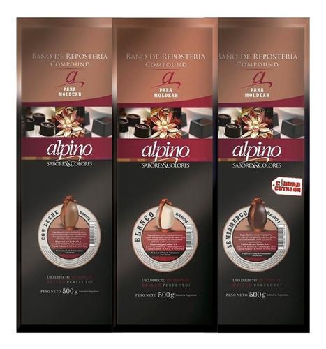 Imagen 1 de 8 de Chocolate Alpino Lodiser Tableta X 500grs - Ciudad Cotillón