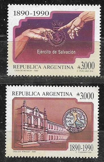 Ejército Salvación 2 Estampillas Mint Gj. 2519/20 Año 1990