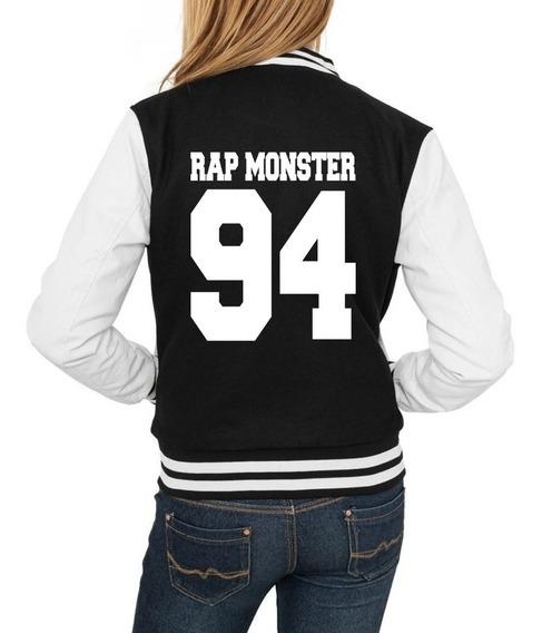 Jaqueta Bts Rap Monster Feminina Bangtan Moletom + Brinde